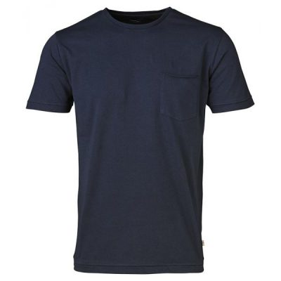 KnowledgeCotton Apparel - Basic Tee With Chest Pocket (Total Eclipse)