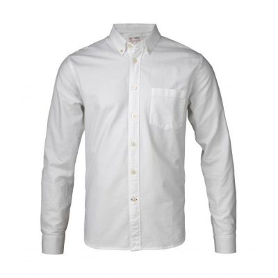 KnowledgeCotton - Button Down Oxford Shirt (Bright White)